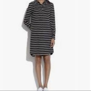 Madewell Striped Silk Shirt Dress Size s
